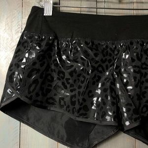 PINK Victoria's Secret Shorts - Pink Victoria Secret Leopard Running Shorts